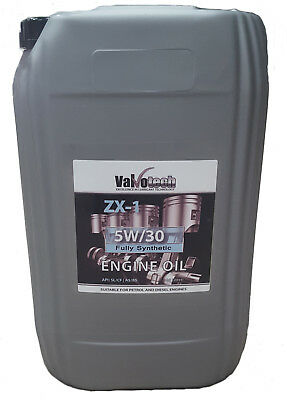 Valvotech 5W30 Fully Synthetic Car Van Engine Oil 20 Litre 20L 5 30 5W 30 Drum