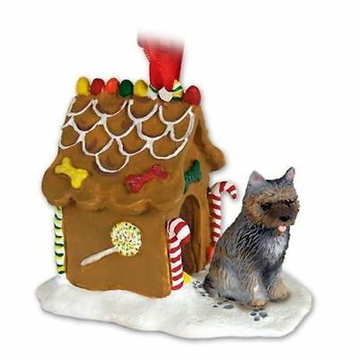 Cairn Terrier Brindle Dog Ginger Bread House Christmas ORNAMENT