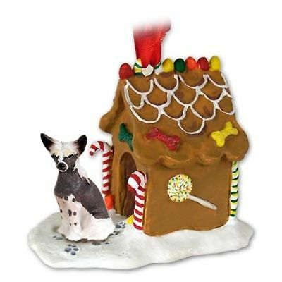Chinese Crested Dog Ginger Bread House Christmas ORNAMENT