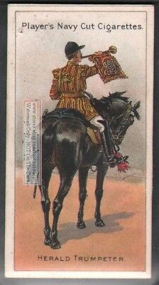 English Kings Herald Trumpeter On Horse 100+ Y/O Trade Ad Card