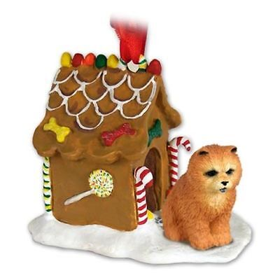 Chow Chow Red Dog Ginger Bread House Christmas ORNAMENT