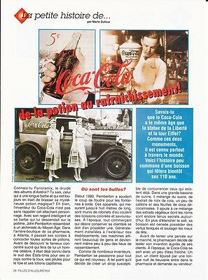 Coca Cola Three page French article and pictorial on the History of Coca Cola