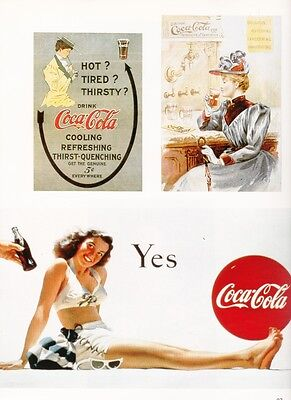 Coca Cola Archives showing ads from the 1900's compared to ads from the 50's