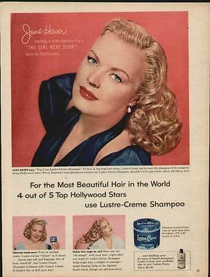 June Haver Hollywood Movie Star ad for Luster Creme Shampoo from 1953