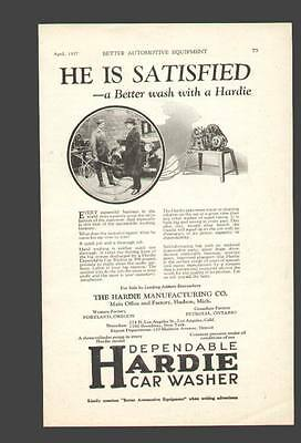 1927 ad for Hardie Electric Car Washer of Hudson Mi.