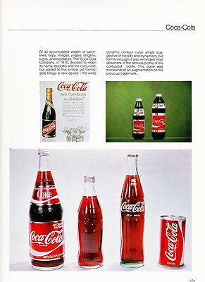 Coca Cola Archives showing the change in bottle forme in 1970
