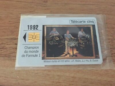 Collectable Phonecards. Telecarte Phonecard Renault 1992