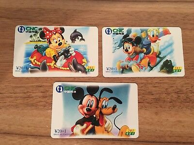 Collectable Phonecards. 3 Disney Phonecards