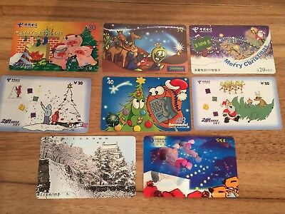 Collectable Phonecards. 8 Christmas  Phonecards