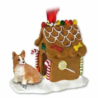 Welsh Corgi Pembroke Dog Ginger Bread House Christmas ORNAMENT