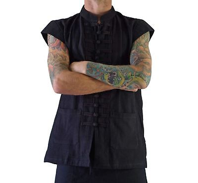 'NAVAL PIRATE VEST' Steampunk - BLACK