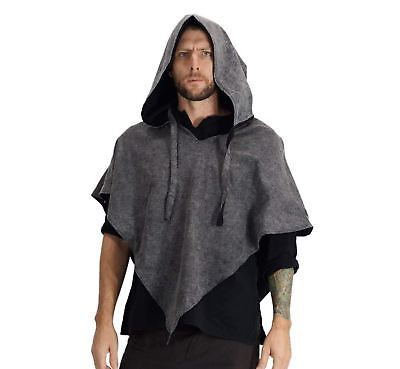 'HOODED COWL'  Medieval - STONE GREY