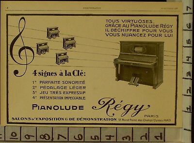 1928 Regy Player Piano Music Dance Sound Key String Paris French  2289322893