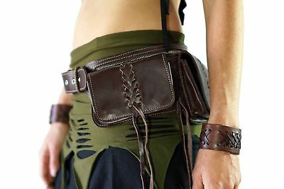 'BRAID' - Leather Utility Belt - Brown