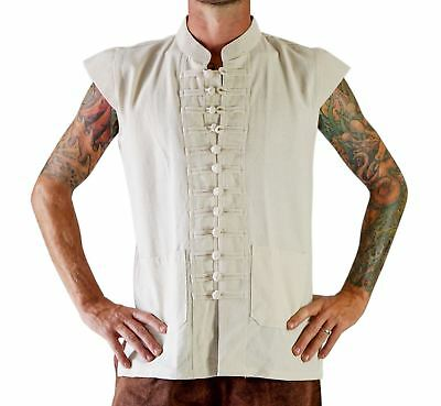 'NAVAL PIRATE VEST' Cap Sleeve, Pirate - CREAM