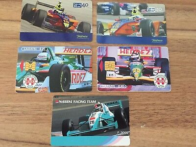 Collectable Phonecards. 5 Racing Car Phonecards