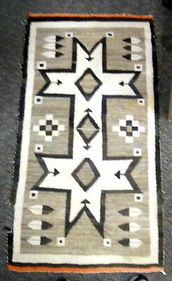 Rare All Original Navajo Native American Vintage Rug.