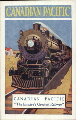 Poster Art CP Canadian Pacific Railway RR Train c1915 Advertising Postcard jrf