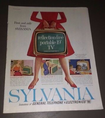 "1960 Sylvania Reflection Free Portable 19"" Television Ad"