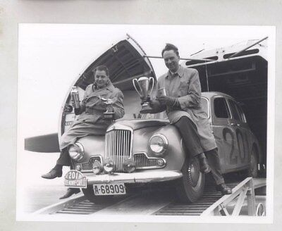 1955 Sunbeam Alpine Monte Carlo Rally Race Malling Fadum ORIGINAL Photo wy6291