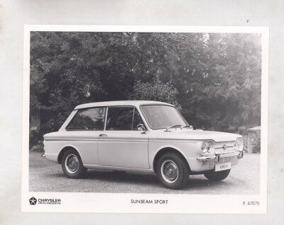 1966 ? Sunbeam Imp Sport ORIGINAL Factory Photograph wy6293