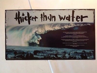 Jack Johnson Thicker Than Water Poster Surf Surfing Film Rare