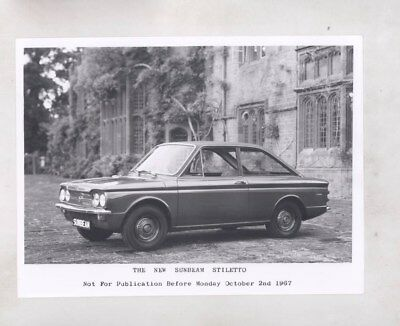 1968 Sunbeam Stiletto ORIGINAL Factory Photograph wy6313