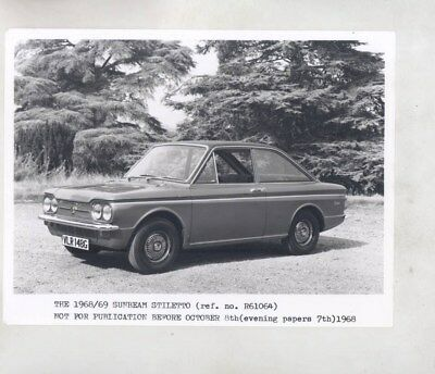 1968 1969 Sunbeam Stiletto ORIGINAL Factory Photograph wy6321