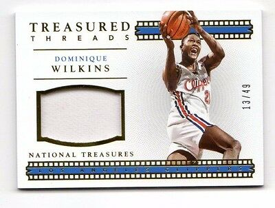 Dominique Wilkins Nba 2015-16 National Treasures Treasured Threads (Clippers)