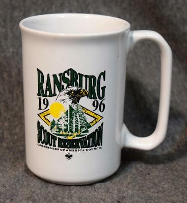 Ransburg 1996 Boy Scouts BSA Reservation Ceramic Coffee Cup Mug MINT