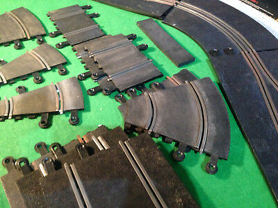 Original Scalextric Track - Norrow  Pieces & sharp bend Sections(JOB LOT)
