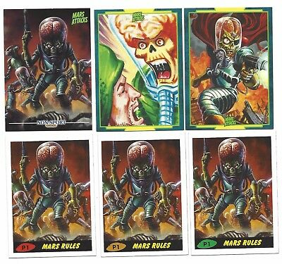 Mars Attacks occupation 6 PROMO CARDS P1 ALL 3-UPDATES PROMO + P2 + P3 WARLORD