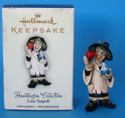 Hallmark Halloween Hauntington Collection Cass Taspell Ornament - New in Box