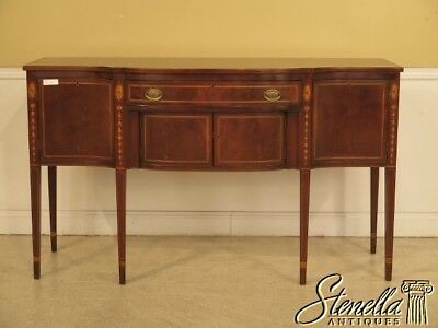 41973E: KITTINGER / BIGGS Inlaid Mahogany Federal Sideboard