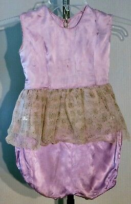 VTG 1960's Toddlers Lavender Satin Outfit Perfect for Zombie Halloween Costume