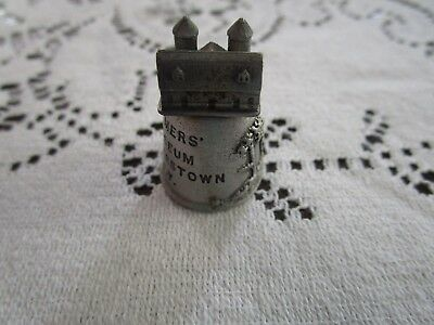 Souvenir Pewter Thimble from the Farmers Museum in Cooperstown, NY