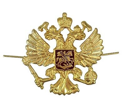 Russian Military Army Hat Pin Badge  Imperial Eagle Crest  *Buy 2 get 1 FREE!*