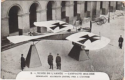 Rare Original 1914-1916 Musee De L'armee French Postcard #3 German Aeroplane