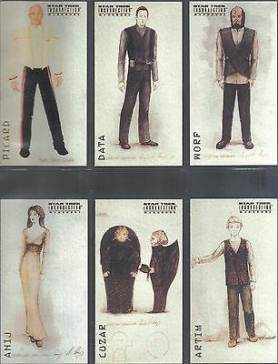 Star Trek Insurrection Set Of Nine Wardrobe Cards