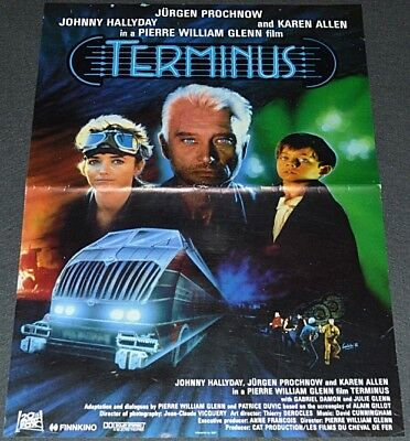 TERMINUS 1987 ORIGINAL 16x23 FINNISH MOVIE POSTER! KAREN ALLEN SCI-FI ACTION!