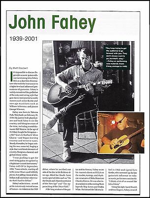 John Fahey 1939-2001 death tribute full page article 8 x 11 pinup photo print