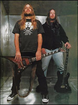 Lamb of God Mark Morton Will Adler 8 x 11 pin-up photo Jackson V Guitar