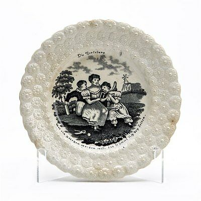 Antique Wedgwood German Printed Child's Plate 19Th C.