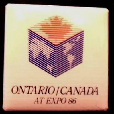 EXPO 86 Province of Ontario Pavilion Lapel Pin Near Mint Vancouver
