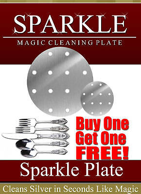 *SPARKLE* SILVER & GOLD CLEANING PLATE (Round 13 CM) GET JEWELRY ONE **FREE**