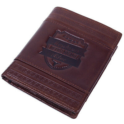 Mens Genuine Leather Wallet Bifold Credit Card Holders Vintage Retro Purse