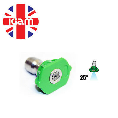 11.6mm Quick Release Nozzle Jet for High Pressure Washer 25° Sizes 03 - 05