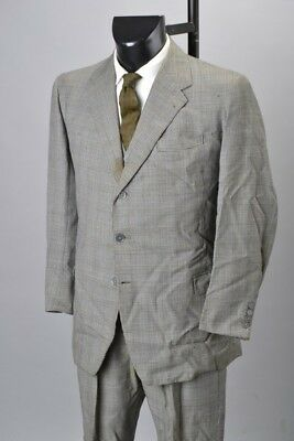 1963 Tom Brown Tailored 3 Piece Prince Of Wales Check Suit & Silk Tie. Ref CTT