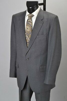 Gieves & Hawkes Savile Row Pale Grey 1980s' Lounge Suit With Paisley Tie. CFM