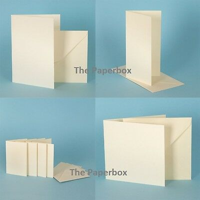 Ivory Linen Card Blanks & Envelopes, choose card blank size and pack size